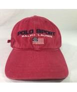 Vintage Ralph Lauren Hat Polo Sport Spell Out Flag Strapback Dad Cap Bea... - $69.99