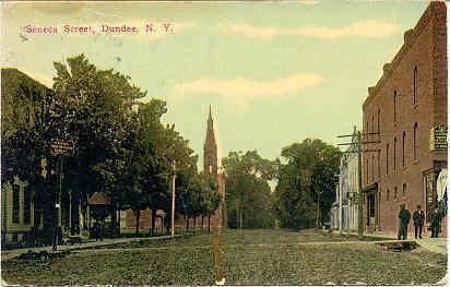Senaca Street Dundee New York Vintage 1913 Post Card