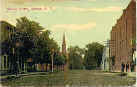 Senaca Street Dundee New York Vintage 1913 Post Card - $4.00