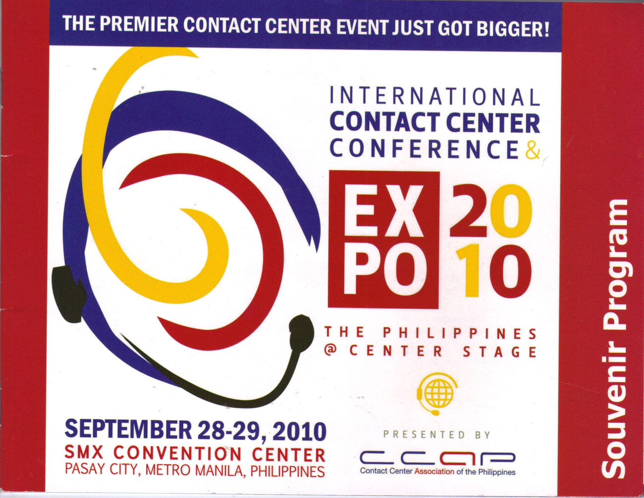 Primary image for INTL CONTACT CENTER CONFERENCE EXPO 2010 Souvenir Program, Philippines