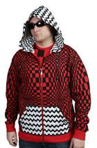UGP Under Ground Products DIY Men's Red Checkered Zip Up Hoodie NWT