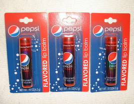 Pepsi Wild Cherry Flavored Lip Balm Gloss Soda Pop 3 Tubes Lotta Luv - $4.98
