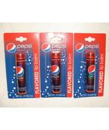 Pepsi Wild Cherry Flavored Lip Balm Gloss Soda Pop 3 Tubes Lotta Luv - $4.98