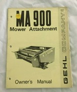 Gehl Company MA900 Mower Attachment Owners Operators Manual Book West Be... - $33.94