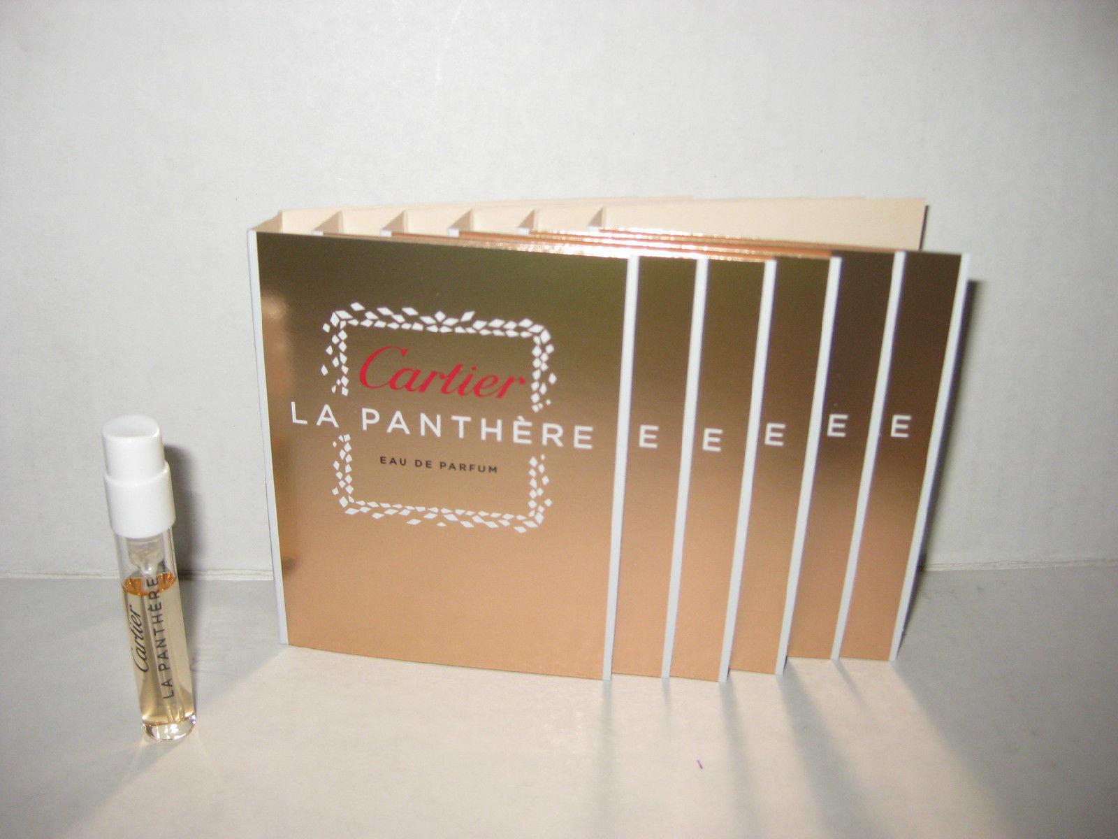 6 x La Panthere by Cartier 1.5ml. Eau De Parfum Women Spray Sample Vial