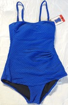 ESSENTIALS BY GOTTEX Women's NWOT Blue Texture Underwire 1-Piece Swimsuit - $16.99