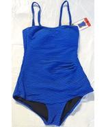 ESSENTIALS BY GOTTEX Women's NWOT Blue Texture Underwire 1-Piece Swimsuit - $16.99