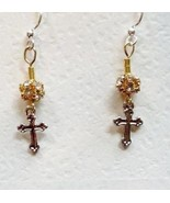 Cross Elegant Gold and Silver with Swarovski Cr... - $29.99
