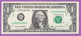 2003A $1.00 Federal Reserve Note Chicago District GB block Run 1 G252042... - $2.39
