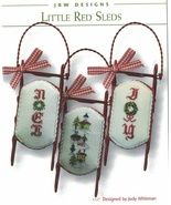 Little Red Sleds christmas cross stitch chart JBW Designs  - $9.00