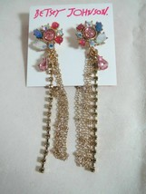 Betsey Johnson Cluster Drop Earrings Nwt - $19.35
