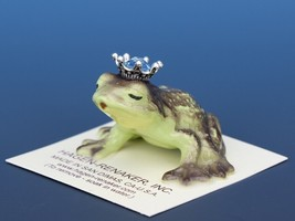 Birthstone Frog Prince Kissing March Aquamarine Miniatures by Hagen-Renaker image 1