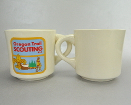 BSA Oregon Trail Scouting Set of 2 Coffee Mug Cups USA - $12.99