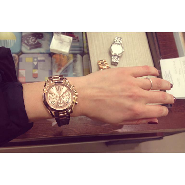 cf483bfdc1cf New Originals 2018 Michael Kors Women s Bradshaw Rose Gold S.Steel Watch  MK5799