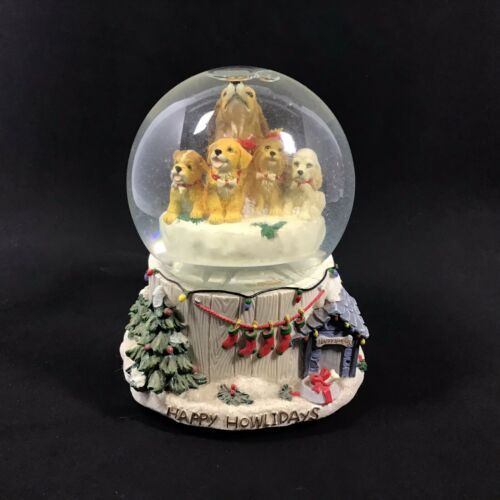 "Primary image for San Francisco Music Box Company ""Happy Howlidays"" Puppy Waterglobe Mary Badenhop"