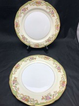 "2 Vintage Noritake Venus 10"" Dinner Plates Excellent Used Condition - $34.60"
