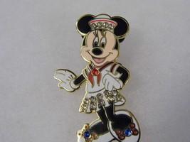 Disney Minnie Mouse Pin Diamond Like Blue Gems Costume Fashion Jewelry - $12.66