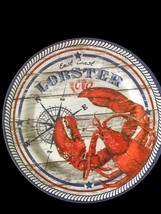 "East Coast Lobster Melamine Plates 4 pc set 10.25"" Dinner Plates NEW Bea... - $598,90 MXN"
