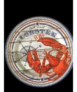 """East Coast Lobster Melamine Plates 4 pc set 10.25"""" Dinner Plates NEW Bea... - $29.58"""