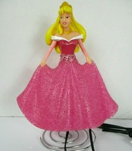Disney Sleeping Beauty Princess Aurora Lamp Night Light 11 Inch Pink Dress  - $19.79