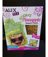Alex D.I.Y. Knot A Pineapple Sequin Plush New - $11.64