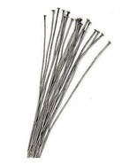 Lot 100 Antique SILVER Brass HEADPINS 2 inch 24 gauge No-Lead/No-Nickel ... - $7.30