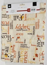 "Printed Fabric Kitchen Cotton Apron w/ Pocket (24""x32"")FALL,HARVEST WORD... - $12.86"