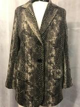Chico's Women's Black Multi Snake Print Knit Blazer Size 1 / 8 NWOT - $58.41