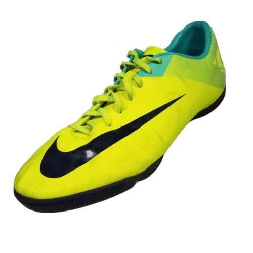 Nike Mercurial Victory ll IC Mens 12 Indoor Soccer Shoes Yellow Blue 442015-754 - $36.62