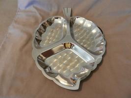 Vintage Silverplated 3 Section Divided Leaf Appetizer Serving Platter - $29.70