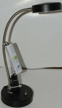 Portfolio 1237436 Desk Lamp LED Black Silver CORDED Package 1 image 1