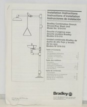Bradley S19310 Combination Drench Shower Eye Wash Unit Plastic Bowl image 1