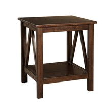 Small End Table With Storage Shelf Living Room Nightstand Wood Display F... - $93.35