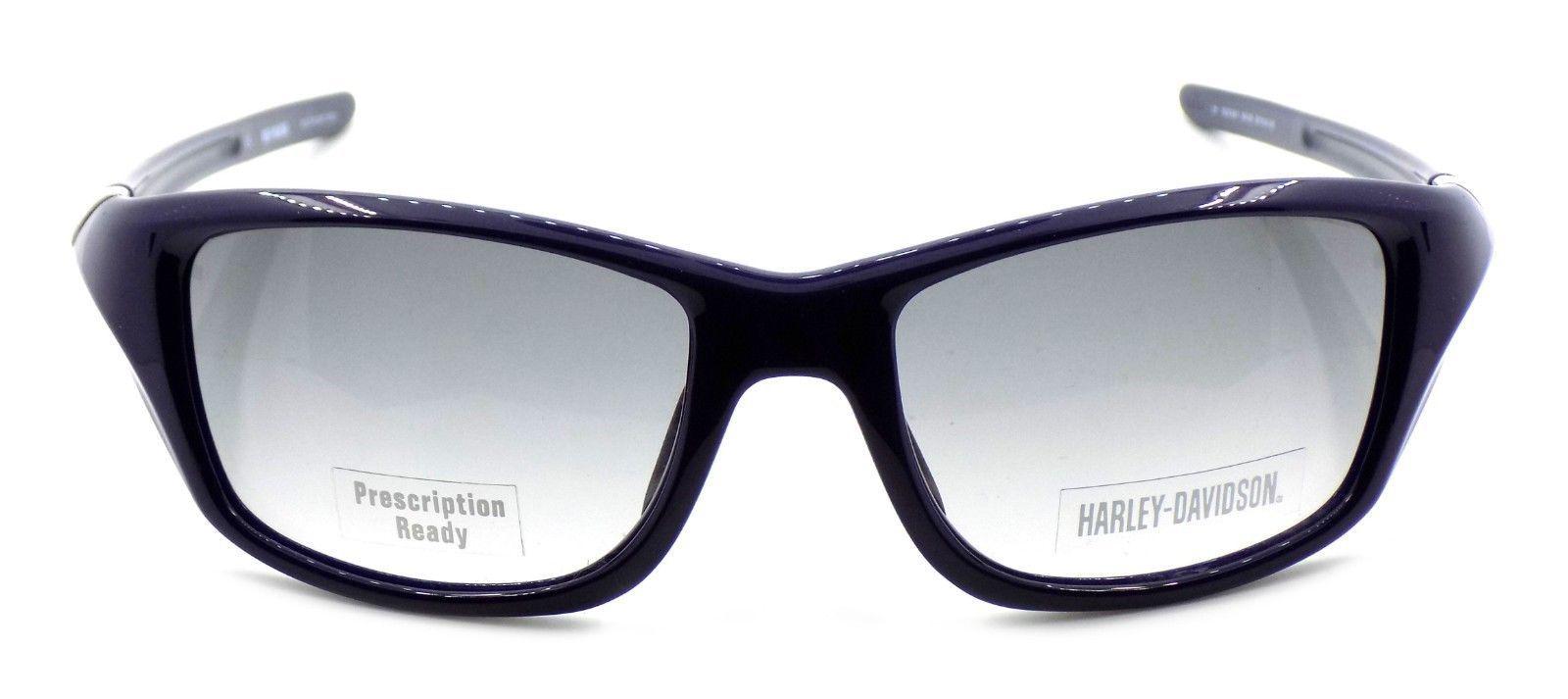 Harley Davidson HDX861 NV-35 Wraparound Sunglasses Blue 57-18-135 Smoke Gradient