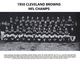1950 CLEVELAND BROWNS  8X10 TEAM PHOTO FOOTBALL PICTURE  WORLD CHAMPS NFL - $3.95