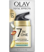 Olay Total Effects 7-in-1 Anti-Aging UV Moisturizer with Sunscreen SPF 1... - $17.75