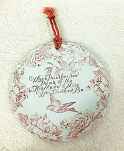 Staffordshire Crownford Motto Plate Red White Bird Flying Think of You Distance  - $26.24