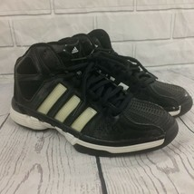 Adidas Mens High Top Basketball Shoes Size 7 Black And White  - $13.15 CAD