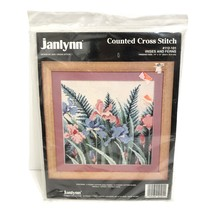 Janlynn Counted Cross Stitch Kit Flower Vintage 1993 Irises and Ferns Ne... - $22.05