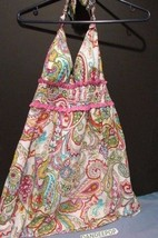 Guess Size 5 Multi Color Paisley Pattern Halter Dress - $49.49