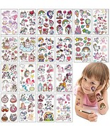 Unicorn Party Favors Temporary Tattoos Stickers kit 20 Sheets Glitter Ta... - $9.57