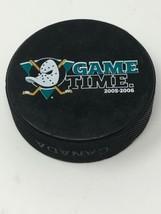 NHL Anaheim Ducks Hockey 1 Sided Game Time Puck from 2005-2006 Season - $9.85