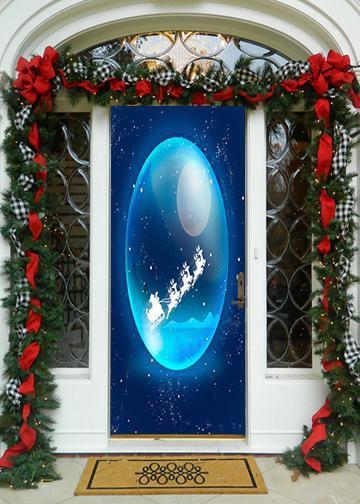 Santa's Sleigh Ride Christmas Door Hanger