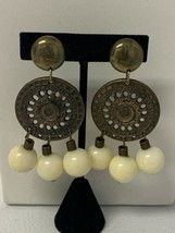 Vintage Clip On Earrings Signed S  - $19.35
