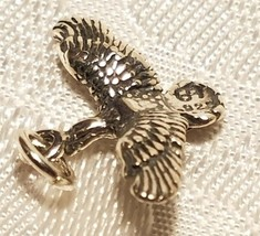 Duck  Flying Bird STAMPED 925 STERLING SILVER CHARM image 2