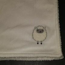 Carter's White Gray Sheep Baby Blanket Security Lovey Fleece SUPER SOFT - $39.55