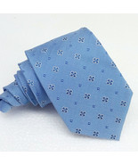 "Tie 100% silk Made in Italy classic 3.54"" blue Jacquard business  weddin... - $28.40"