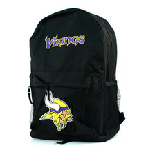 Minnesota Vikings NFL Sprinter Black Backpack School Book Bag Travel Gym... - $23.71