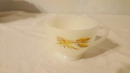 VINTAGE ANCHOR HOCKING MILK GLASS GOLDEN WHEAT TEA CUP REPLACEMENT FOR S... - $4.94