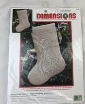 Dimensions Crewel Stitchery Christmas Stocking KIT SNOWFLAKE DREAMS ANGE... - $116.52